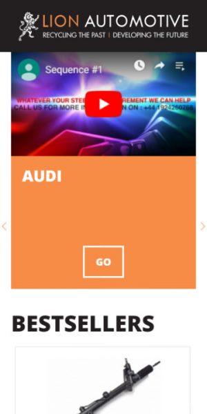 Lion Automotive responsive web design